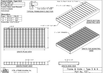 Frame and Grate Types 5 and 6