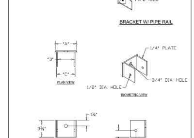 Pipe Rail Bracket